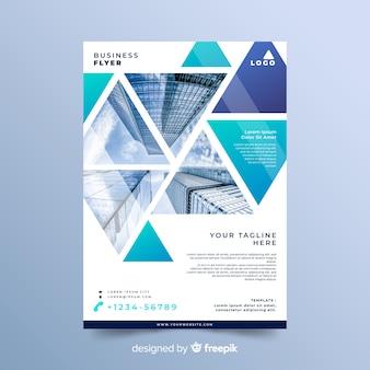 Modelo de conceito de panfleto de negócios em mosaico