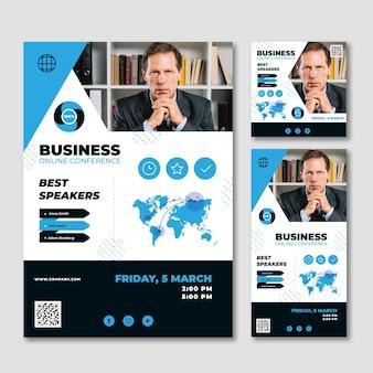 Modelo de conceito de webinar de negócios