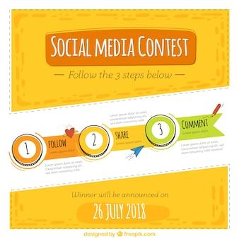 Modelo de concurso de mídia social