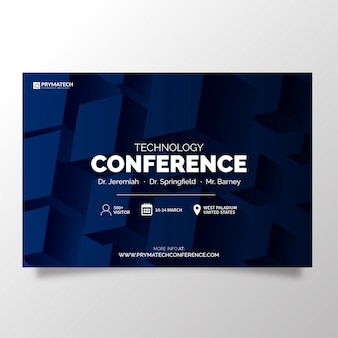 Modelo de conferência de tecnologia moderna