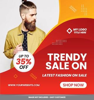 Modelo de conjunto de anúncios de banner de venda moderna