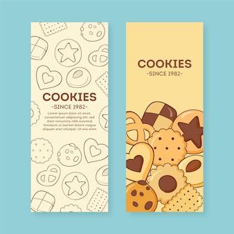 Modelo de conjunto de banner para loja de biscoitos