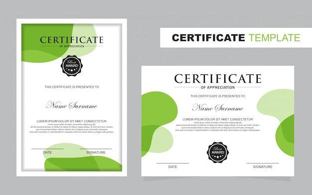 Modelo de conjunto de certificados, vertical e horizontal