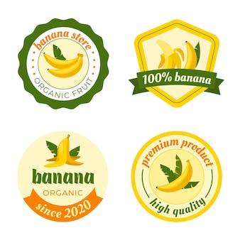 Modelo de conjunto de logotipo banana