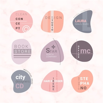 Modelo de conjunto de logotipo minimalista