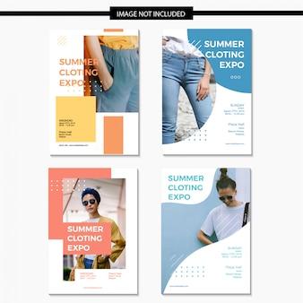 Modelo de conjunto de panfleto de vendas de moda