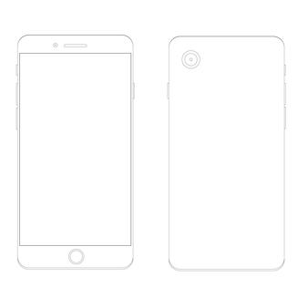 Modelo de contorno de smartphone