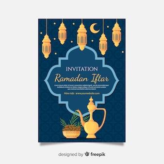 Modelo de convite bonito iftar