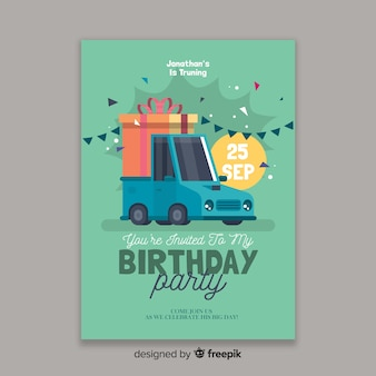 Modelo de convite de aniversário de crianças