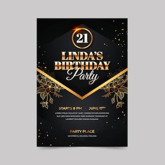 Modelo de convite de aniversário elegante