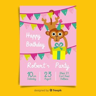 Modelo de convite de aniversário infantil