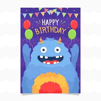 Modelo de convite de aniversário para crianças