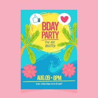 Modelo de convite de aniversário
