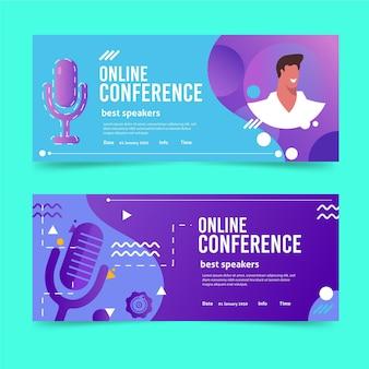 Modelo de convite de banner para webinar ilustrado
