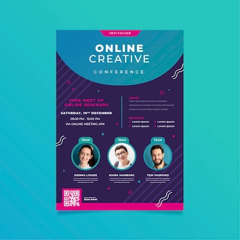 Modelo de convite de banner para webinar