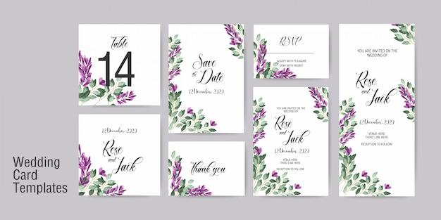 Modelo de convite de cartão de casamento