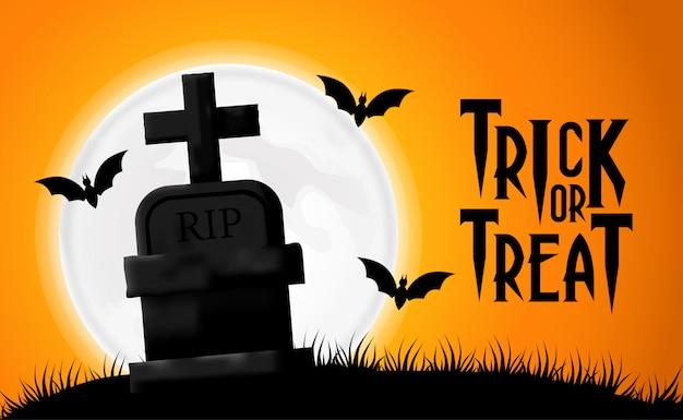 Modelo de convite de cartaz de festa de halloween
