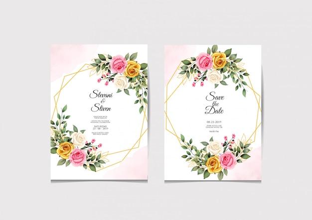 Modelo de convite de casamento beleza e elegante