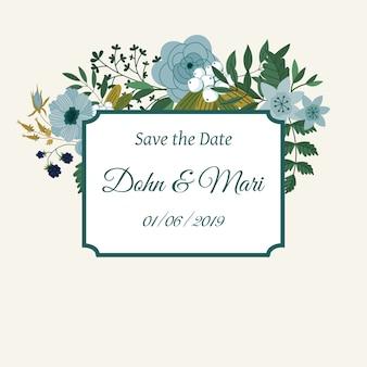 Modelo de convite de casamento bonito