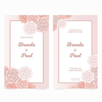 Modelo de convite de casamento floral minimalista elegante