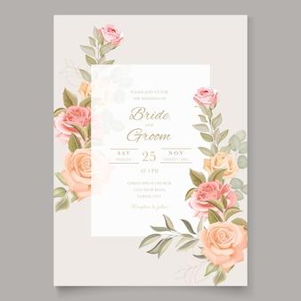 Modelo de convite de casamento floral outono