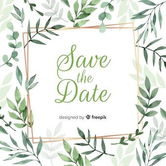 Modelo de convite de casamento floral