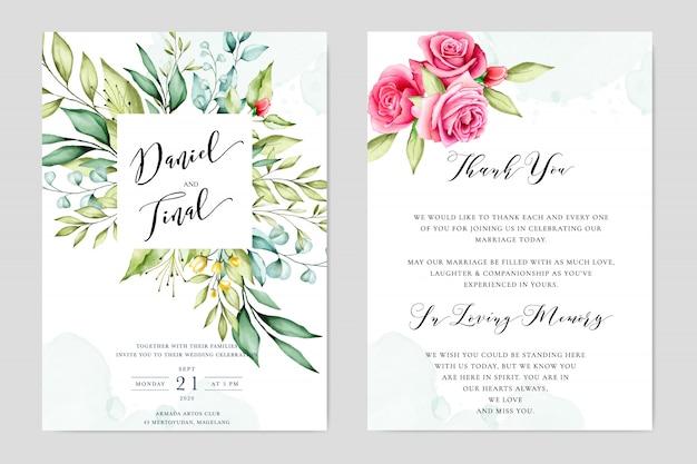 Modelo de convite de casamento lindo