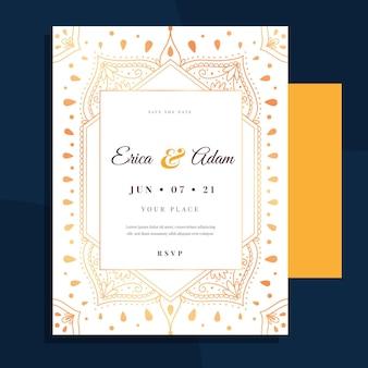 Modelo de convite de casamento luxuoso