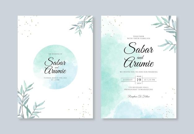 Modelo de convite de casamento minimalista