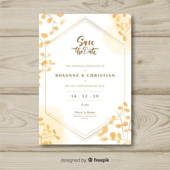 Modelo de convite de casamento