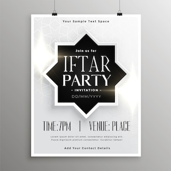 Modelo de convite de celebração de festa iftar
