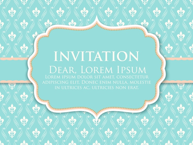 Modelo de convite de decoração de ornamento
