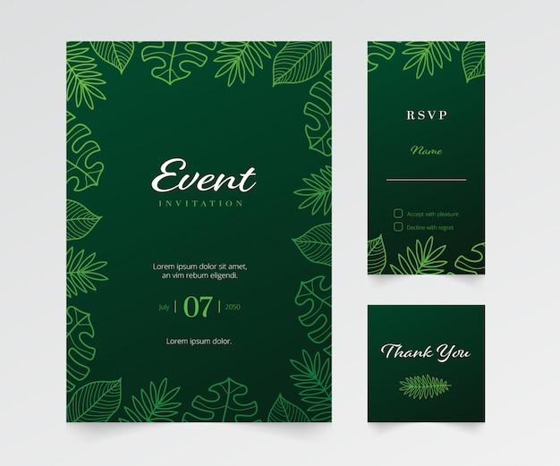 Modelo de convite de evento floral simples