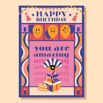 Modelo de convite de feliz aniversário