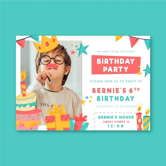 Modelo de convite de festa de aniversário