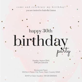 Modelo de convite de festa online celebração de aniversário