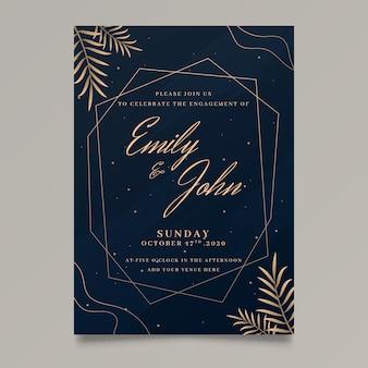 Modelo de convite de noivado elegante