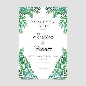 Modelo de convite de noivado