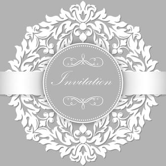 Modelo de convite de ornamento abstrato