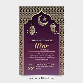 Modelo de convite elegante iftar