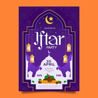 Modelo de convite iftar detalhado