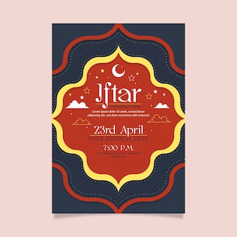 Modelo de convite iftar plana
