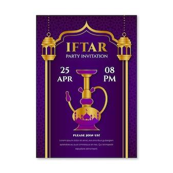 Modelo de convite iftar plano