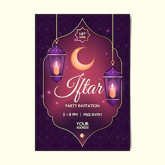 Modelo de convite iftar realista