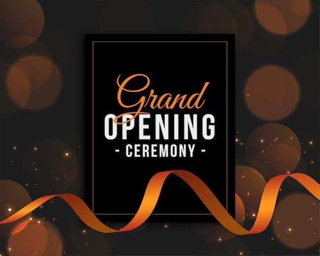 Modelo de convite para a cerimônia de inauguração