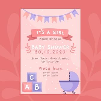 Modelo de convite para chá de bebê