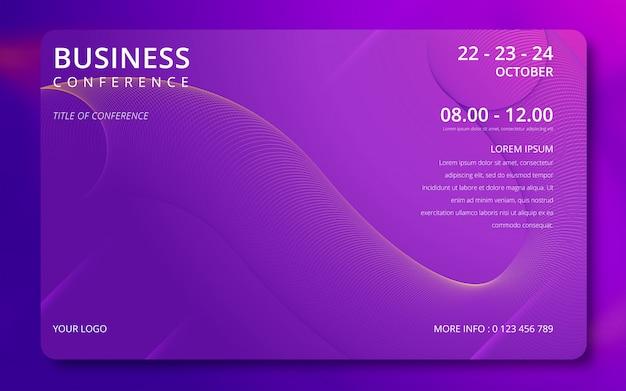 Modelo de convite para conferência