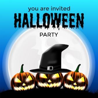 Modelo de convite para festa de halloween