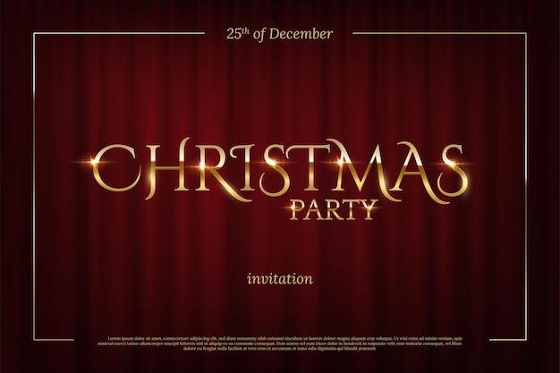 Modelo de convite para festa de natal cartão de convite de evento de feriado de inverno design elegante