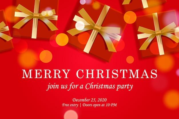 Modelo de convite para festa de natal